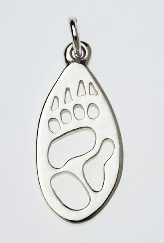 Wombat Silver Footprint Pendant – Bushprints