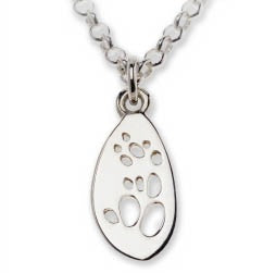 Possum Silver Footprint Necklace – Bushprints