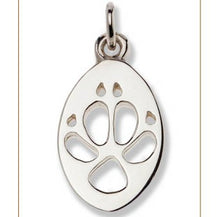 Load image into Gallery viewer, Dingo Silver Footprint Pendant – Bushprints