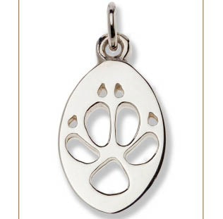 Dingo Silver Footprint Pendant – Bushprints