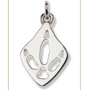 Emu Silver Footprint Pendant – Bushprints