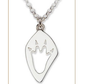 Crocodile Silver Footprint Necklace – Bushprints