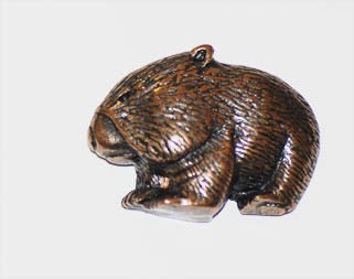 Wombat Brooch Pewter Antique Copper Plated