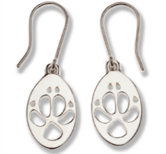 Dingo Silver footprint Earrings - Bushprint