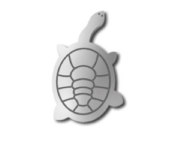 Turtle Long-necked Pin - Allegria Designs