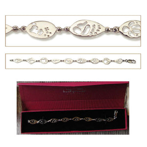 Bracelet Sterling Silver 9 Footprints SALE- Bushprints