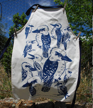 Load image into Gallery viewer, Kookaburra blue print Apron