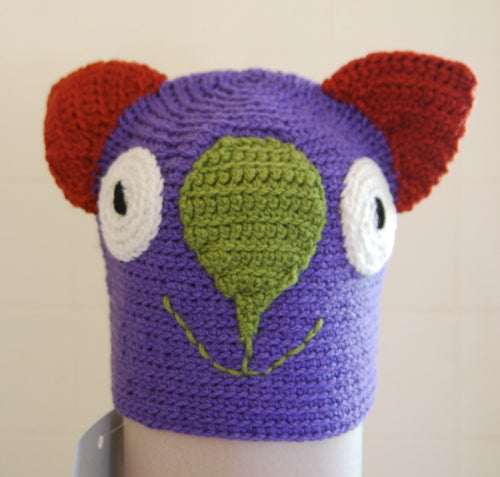 Drop bear, Wombat, Koala Hat Small Adult:purple