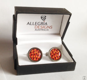Echidna Spine Aboriginal design Round cufflinks - Allegria