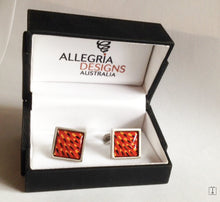 Load image into Gallery viewer, Echidna Spine Aboriginal design Cufflinks Rectangular - Allegria