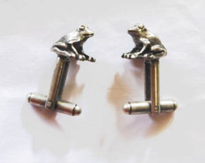 Frog Pewter Cufflinks Antique copper Plated – Peek-a-Boo