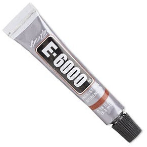 Brooch  Glue E-6000 glue clear.  .18oz tubes