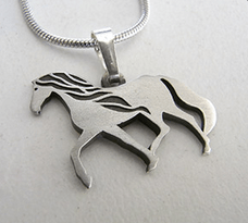Brumby Silver Plated Pewter Pendant on Chain - Allegria Designs