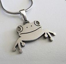 Frog Pendant and necklace - Allegria