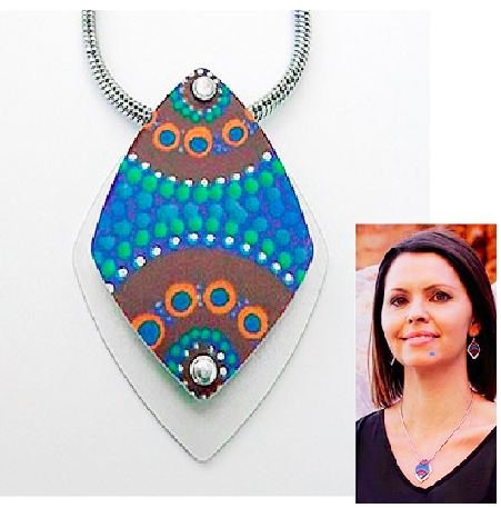 A Camping Around Waterholes Pendant and Necklace - Allegria