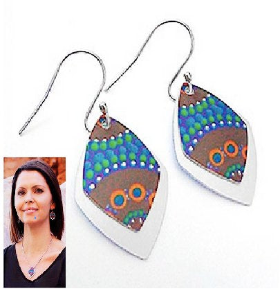 A Camping Around Waterholes Earrings - Allegria
