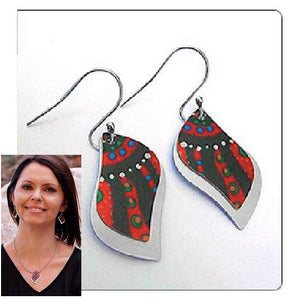 A Swiming After Rain Earrings - Allegria