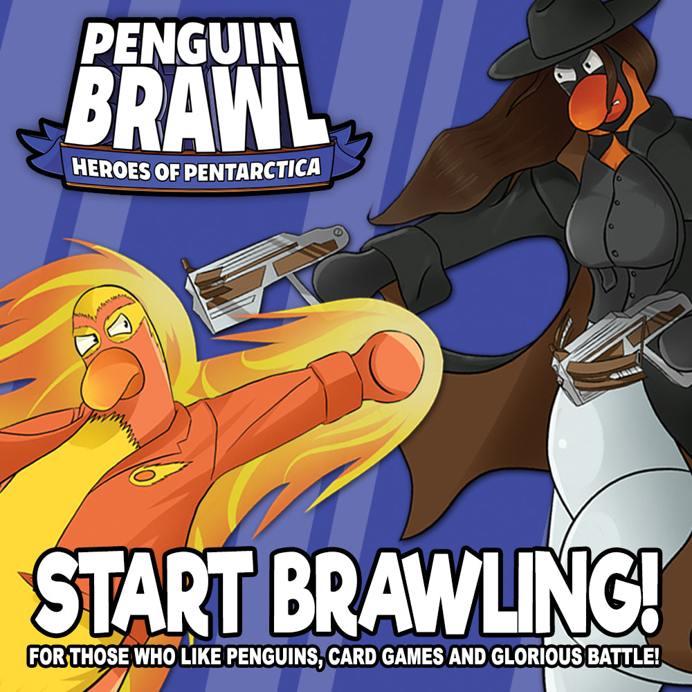 Penguin Brawl promo image for Team Custard Kraken online shop