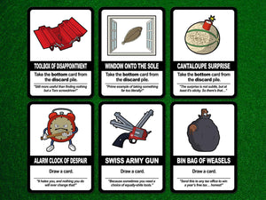 Find the Pickle: Standard Edition, a board game by Team Custard Kraken – 6 of the in-game cards.