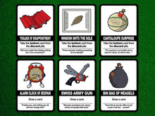 Load image into Gallery viewer, Find the Pickle: Standard Edition, a board game by Team Custard Kraken – 6 of the in-game cards.