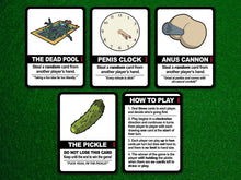 Load image into Gallery viewer, Find the Pickle: NSFW Edition, a board game by Team Custard Kraken – 6 of the in-game cards.