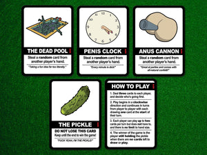 Find the Pickle: NSFW Edition, a board game by Team Custard Kraken – 6 of the in-game cards.