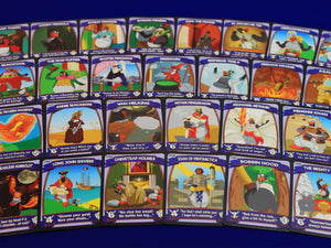 Penguin Brawl: Heroes of Pentarctica - a board game by Team Custard Kraken - Character cards promotional photo
