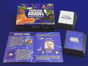 Penguin Brawl: Heroes of Pentarctica - a board game by Team Custard Kraken - What's included photo
