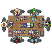 Load image into Gallery viewer, Penguin Brawl: Heroes of Pentarctica - a board game by Team Custard Kraken - standard game setup example image