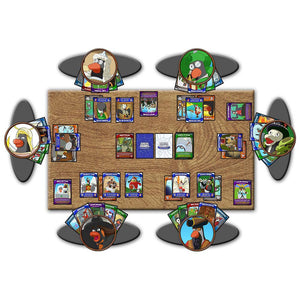 Penguin Brawl: Heroes of Pentarctica - a board game by Team Custard Kraken - standard game setup example image