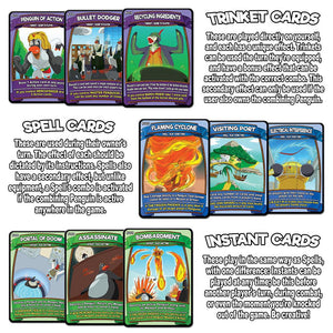 Penguin Brawl: Heroes of Pentarctica - a board game by Team Custard Kraken - Trinket, Spells and Instants card info image