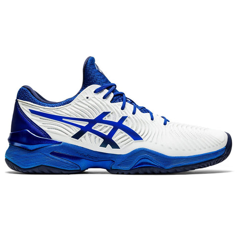 Asics Court FF 2 Novak Men's Tennis Shoe (White/Asics Blue) - RacquetGuys