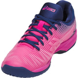 Asics Solution Speed FF Womens Tennis Shoe (Pink Glo/White)