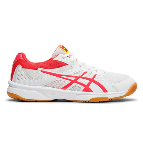 Asics Upcourt 3 Women's Indoor Court Shoe (White/Pink)