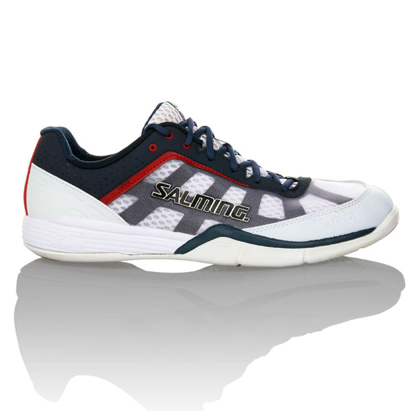Salming Viper 2.0 Mens Indoor Court Shoe (White/Navy) - RacquetGuys