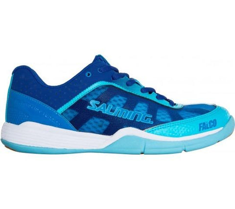 Salming Falco Women's Indoor Court Shoe (Limoges Blue/Blue Atol) - RacquetGuys