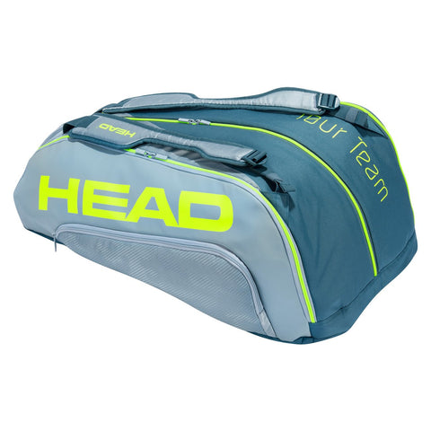 Head Tour Team Extreme Monstercombi 12 Pack Racquet Bag (Yellow/Grey) - RacquetGuys