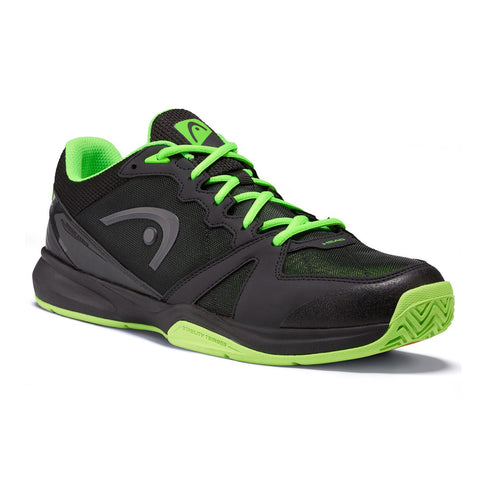 HEAD Revolt Pro Men's Indoor Court Shoe (Black/Green)