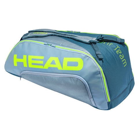Head Tour Team Extreme Supercombi 9 Pack Racquet Bag (Yellow/Grey) - RacquetGuys