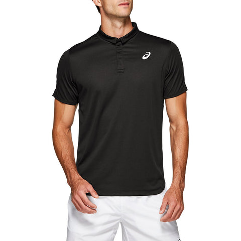 Asics Men's Club Polo (Black) - RacquetGuys