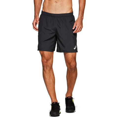 Asics Men's Club 7 Inch Shorts (Black) - RacquetGuys