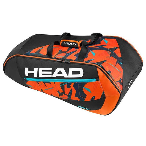 Head Radical Supercombi 9 Pack Racquet Bag (Black/Orange)