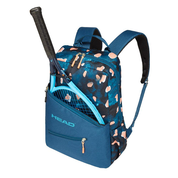 Head Core Backpack Racquet Bag (Blue/Coral) - RacquetGuys