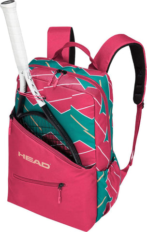 Head Core Backpack Racquet Bag (Pink/Green) - RacquetGuys