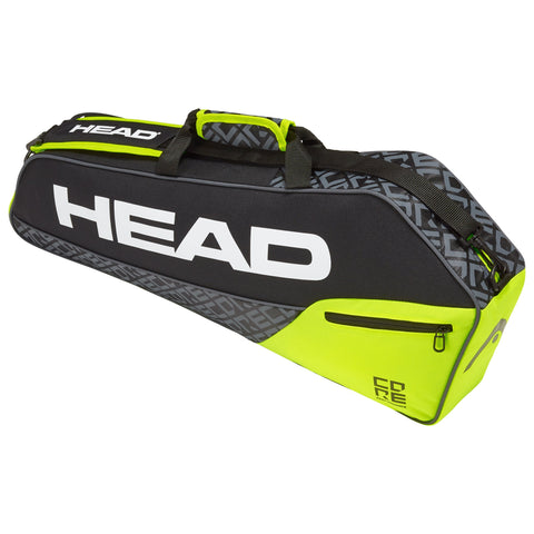 Head Core Pro 3 Pack Racquet Bag (Black/Yellow) - RacquetGuys