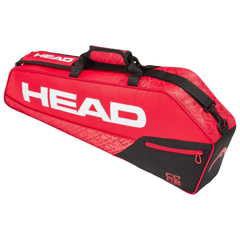 Head Core Pro 3 Pack Racquet Bag (Red/Black) - RacquetGuys
