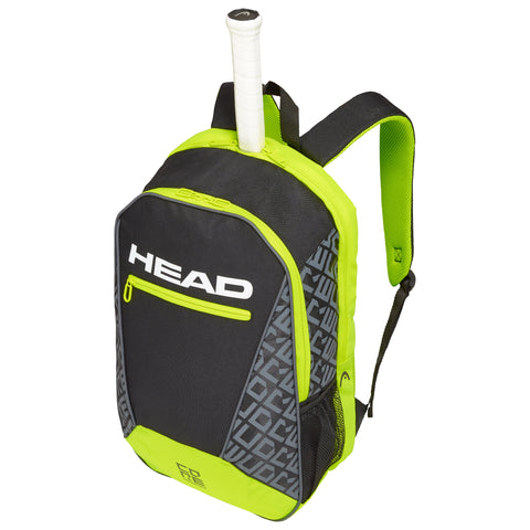 Head Core Backpack Racquet Bag (Black/Yellow) - RacquetGuys