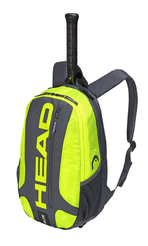 Head Elite Backpack Racquet Bag (Grey/Yellow)