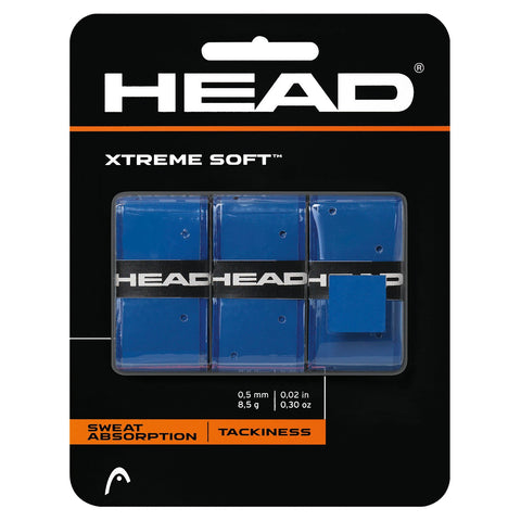 HEAD Xtreme Soft Overgrips 3 Pack (Blue) - RacquetGuys