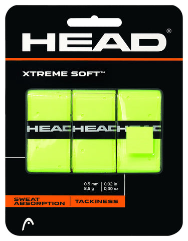 HEAD Xtreme Soft Overgrips 3 Pack (Yellow) - RacquetGuys